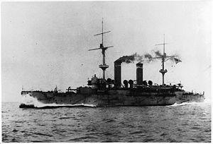 Japanese cruiser Asama - Asama at sea, c. 1904