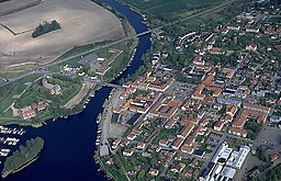 Luftfoto over Askersund fra 1992.