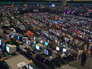 Demoscene - Assembly 2004 – a combination of a demoparty and a LAN party