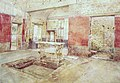 Atrium of the House of the Prince of Naples in Pompeii watercolor by Luigi Bazzani.jpg