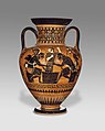 Attic Black-Figure Neck Amphora - Achilles and Ajax playing a board game overseen by Athena.jpg