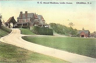 Bergen County, New Jersey - The Atwood-Blauvelt Mansion in Oradell, circa 1909.