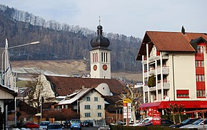 Au, St. Gallen - Image: Au Heerbrugg preghejo de Au 011