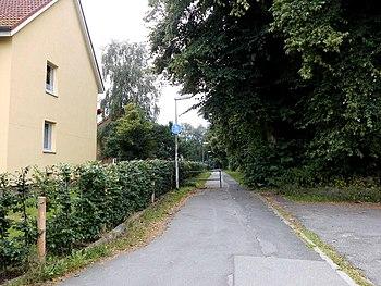 Blick von der Langenbeckstraße aus