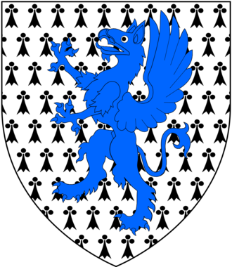 Francis Aungier, 1st Baron Aungier of Longford - Arms of Aungier: Ermine, a griffin segreant azure