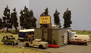 N scale - A collection of N scale buildings and scenery