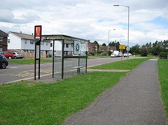 Southcourt - Bus stop on Churchill Avenue