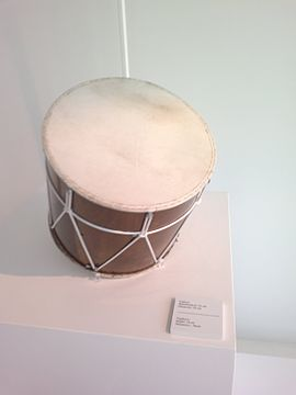 Azerbaijani musical instrument naghara in Heydar Aliyev Center.jpg