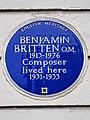 BENJAMIN BRITTEN O.M. 1913-1976 Composer lived here 1931-1933.jpg