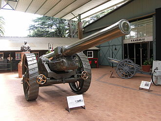 BL 6-inch Gun Mk XIX - On display at the South African National Museum of Military History