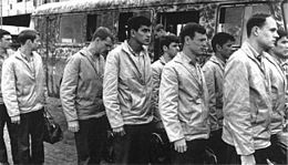 2bcac04f33441 American POWs in North Vietnam lining up for release on March 27
