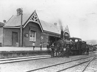 Gretna, Tasmania - B class locomotive at Macquarie Plains station