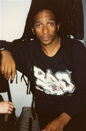 Don Letts - Don Letts during his tenure with Big Audio Dynamite – San Francisco, 1987