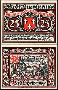 Bad Lippspringe 25 Pfg 1921.jpg