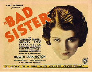 Sidney Fox - Lobby card for Bad Sister (1931)