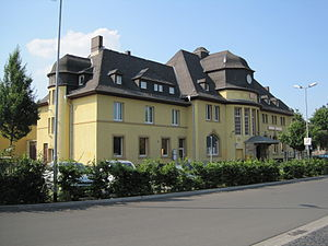 Alsfeld station - The entrance building viewed from the side