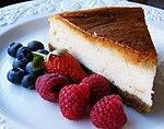 https://upload.wikimedia.org/wikipedia/commons/thumb/e/ea/Baked_cheesecake_with_raspberries_and_blueberries.jpg/150px-Baked_cheesecake_with_raspberries_and_blueberries.jpg