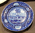 Baltimore & Ohio Railroad (plate), Enoch Wood & Sons, Burslem, England, c. 1840, glazed earthenware - Brooklyn Museum - DSC09364.JPG