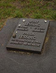 Grab von Willy Lessing auf dem jüdischen Friedhof in Bamberg