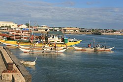 Bantayan municipality from far end of quay.JPG