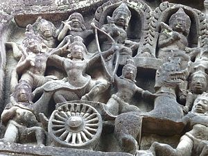 Banteay Samré - Image: Banteay Samre 009 War Scene (8583460309)