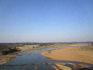 Barakar River - Barakar River at Barakar, Asansol, Bardhaman district
