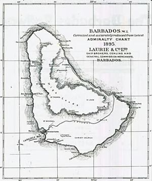 Barbados Railway - Barbados Admiralty Chart, 1895