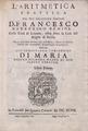 Barberino Benici - Aritmetica prattica, 1697 - 4783464.tif
