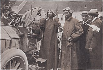 Luigi Barzini Sr. - Borghese (left) and Barzini (right) in the Peking to Paris race.