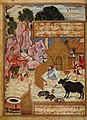 Basawan. The Thief, the Demon and the Devotee. An illustration from the Anvar-i Suhaili, dated 1570-71. Library of the School of Oriental and African Studies, London - копия.jpg