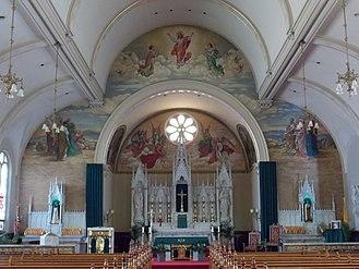 Basilica of St. Michael the Archangel (Loretto, Pennsylvania) - Basilica's interior