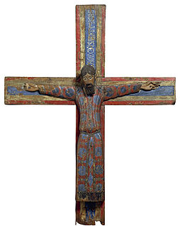 Romanesque wooden crucifix