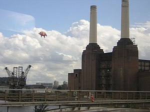 Battersea Power Station in popular culture - Battersea Power Station with an inflatable pig in the 2011 campaign to reissue Animals.