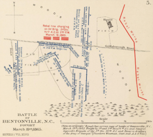 Map of the Battle of Blentonville.