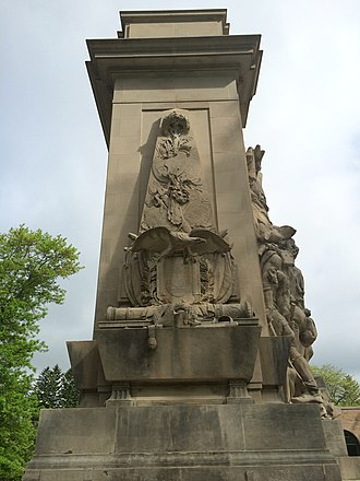 Princeton Battle Monument - Image: Battle of Princeton Monuent south face