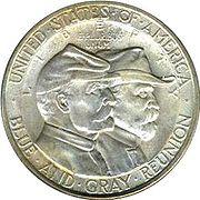 Battle of gettysburg half dollar commemorative obverse