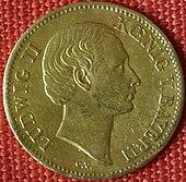 Geschenkdukaten von 1864 mit Konterfei des Königs (Quelle: Wikimedia)