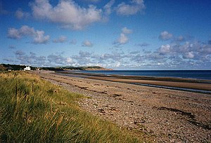 Mooragh Internment Camp - The view north along the beach from the location of Mooragh Camp