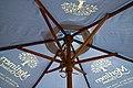Beer garden patio umbrella, Black Horse, Nuthurst, West Sussex, England.jpg