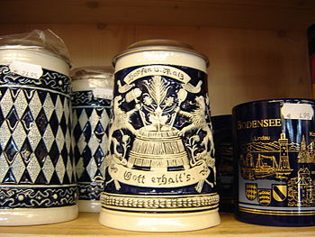 This is a beer stein from a gift shop in Meers...