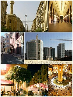 Central business district in Beirut Governorate, Lebanon