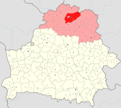 Location of Polotsk DistrictBelarusian: Полацкі раён