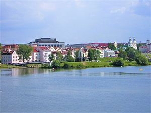Minsk - Trayetskaye Pradmestsye contains the remains of pre-WWII Minsk on the Svislach bank.
