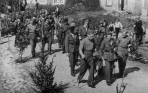 Belgian prisoners of war in World War II - Repatriation of Belgian prisoners of war in Chiny, 1945