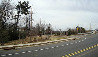 Belle Mead, New Jersey - Looking north along Trent Avenue