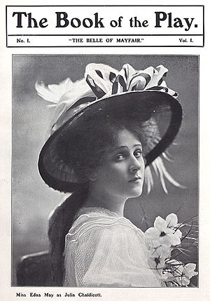 Charles Brookfield - Playbill for The Belle of Mayfair, starring Edna May