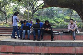 Bengali Wikipedians at Wikipedia 15 good article edit-a-thon and adda, Chittagong 1 (15).jpg