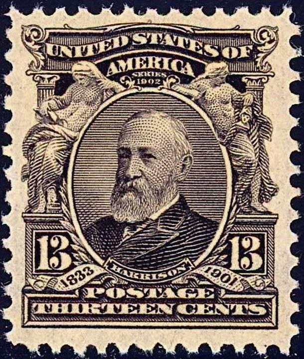 Benjamin Harrison 1903 Issue-13c