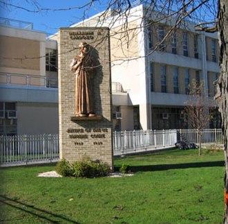Benjamin N. Cardozo High School - An angled shot of the Benjamin N. Cardozo High School in Bayside, Queens, NY.