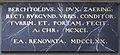 Berchtoldus V Dux plaque Zytglogge.jpg